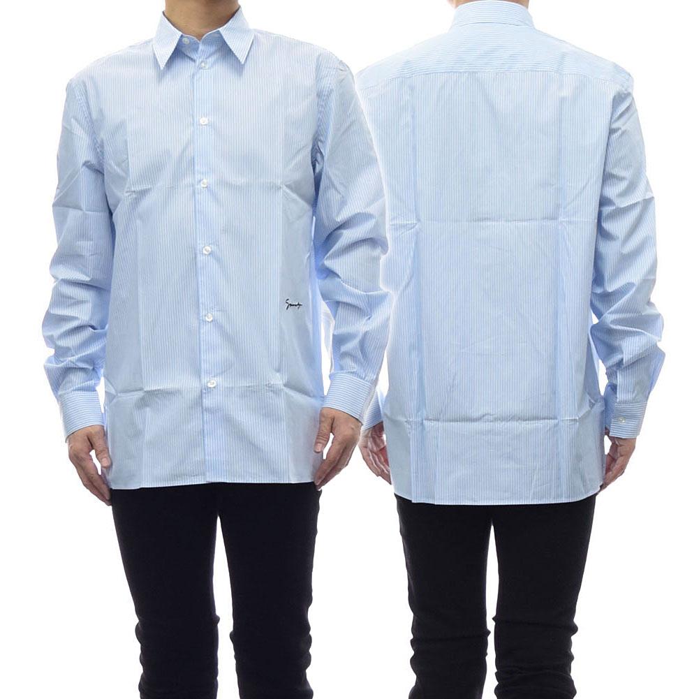 GIVENCHY ジバンシー メンズポプリンシャツ BM607Q1Y5G ブルー /2019春夏新作