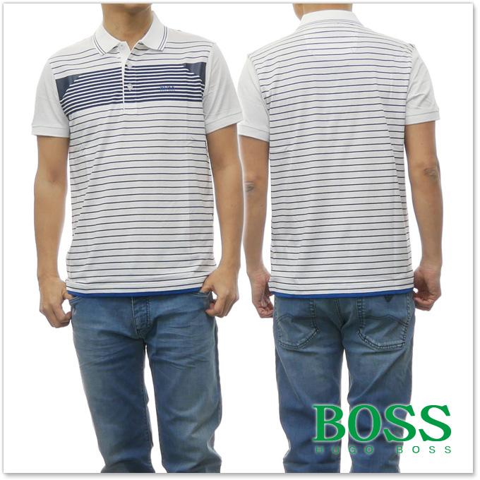 BOSS ATHLEISURE ヒューゴボス ボスアスレジャー メンズポロシャツ Paddy 5 / 50383558 10204720 ホワイト【あす楽対応】