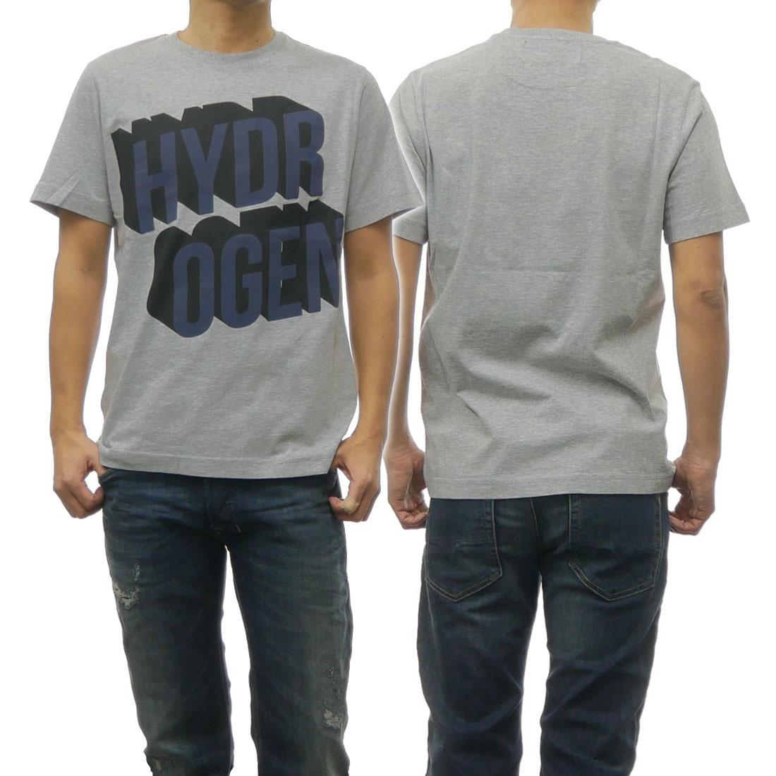 HYDROGEN ハイドロゲン メンズクルーネックTシャツ 225606 グレー【あす楽対応】