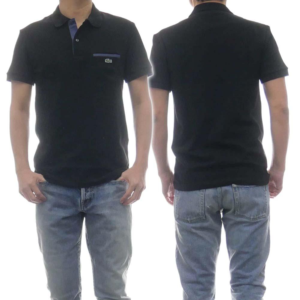 LACOSTE ラコステ メンズ半袖ポロシャツ PH8533 ブラック /2020春夏新作