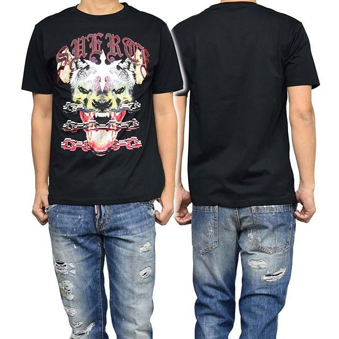 MARCELO BURLON マルセロバーロン メンズクルーネックTシャツ RAMIREZ / CMAA018S17001064 ブラック【あす楽対応】