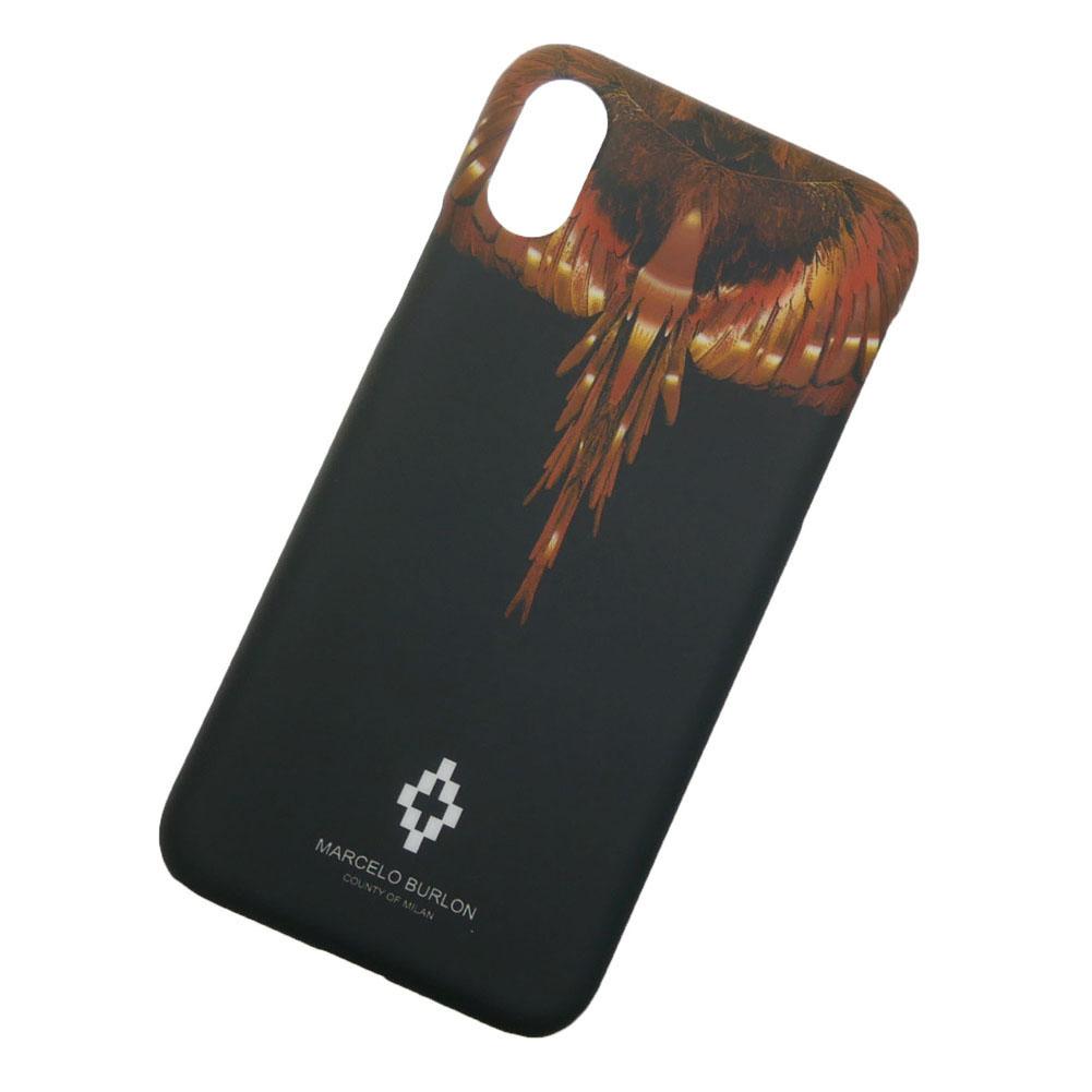 MARCELO BURLON マルセロバーロン iPhone X(iPhone10)対応ケース WINGS X CASE / CMPA007R19008088 ブラック×ゴールド