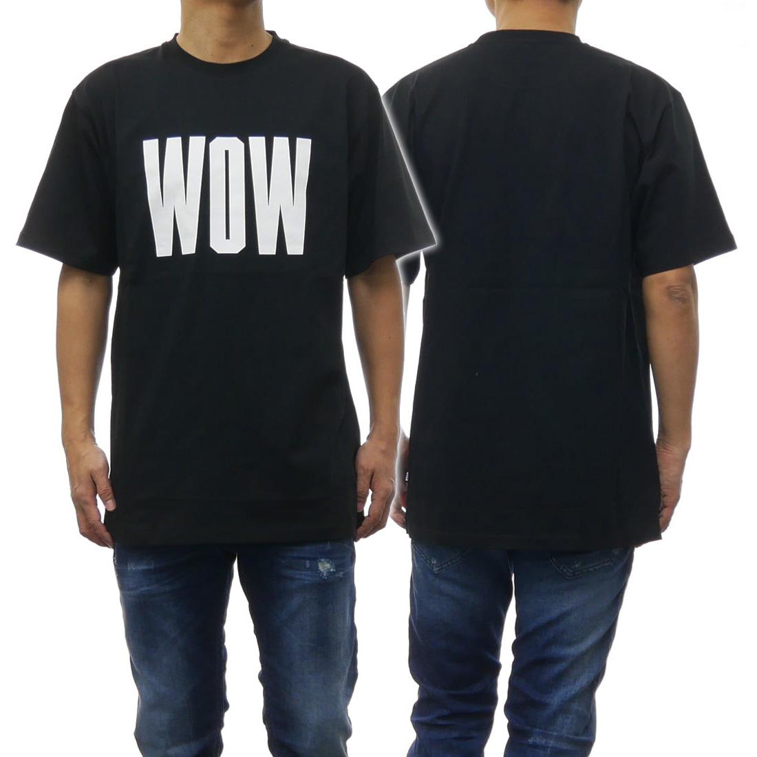 MSGM エムエスジーエム メンズクルーネックTシャツ 2440MM142 184299 ブラック【あす楽対応】