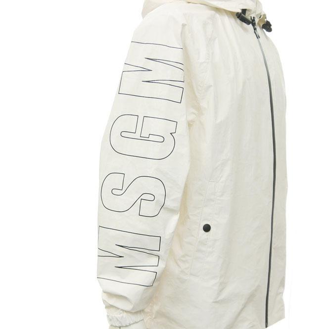 MSGM エムエスジーエム メンズナイロンジャケット 2440MH19X 184028 オフホワイト【あす楽対応】