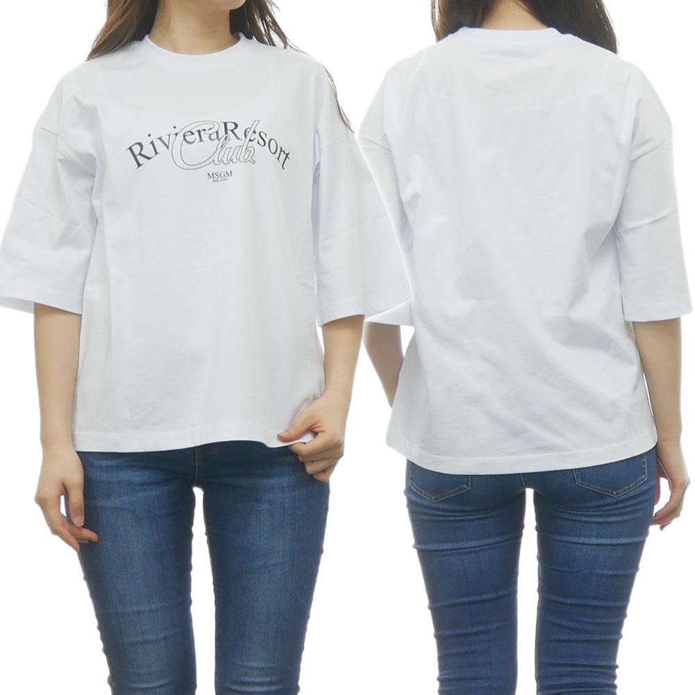 MSGM エムエスジーエム レディースクルーネックTシャツ 2641MDM109 195298 195298 ホワイト