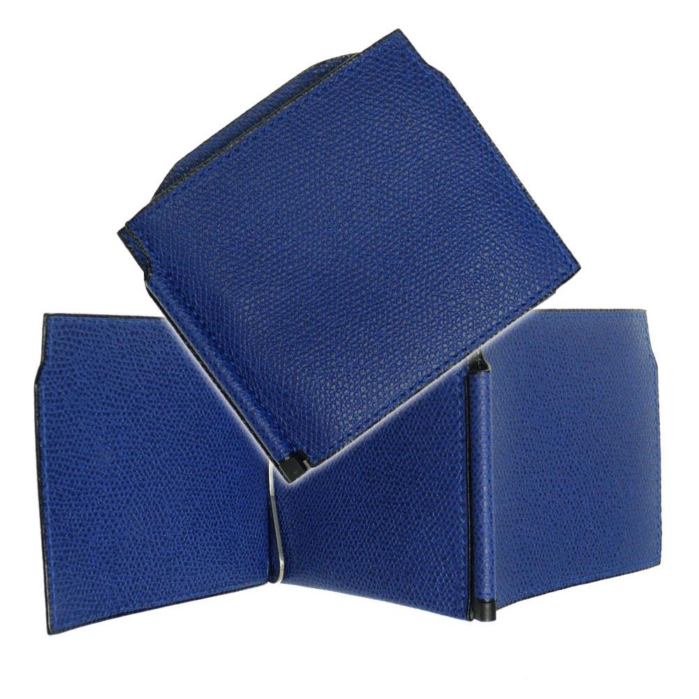 (ヴァレクストラ)VALEXTRA ダブルマネークリップ V0L54 028 ロイヤルブルー /定番人気商品