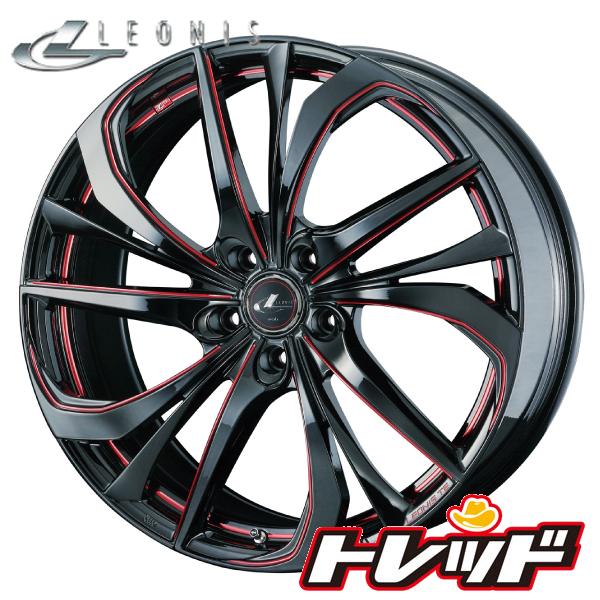 送料無料 235/50R18 WINRUN ウィンラン R330 Weds LEONIS TE BK/SC[RED](ブラック/SCマシニング[レッド]) サマータイヤホイール 4本セット 5H114.3