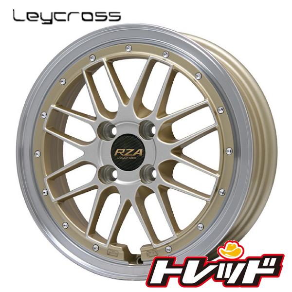 送料無料 185/55R16 WINRUN ウィンラン R330 レイクロス レゼルバ ゴールドリムポリッシュ サマータイヤホイール 4本セット 6.5J 4H100