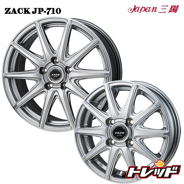 送料無料 145/80R12 (145R12 6PR) YOKOHAMA ヨコハマ Y356 ZACK ザック JP710 新品サマータイヤ ホイール4本セット 12インチ 4.0J 4H100 +42