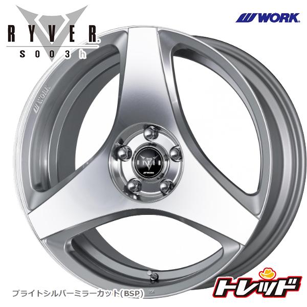 送料無料 245/45R19 HANKOOK VentusV12evo2 ハンコック K120 WORK RYVER S003h ブライトシルバーミラーカット サマータイヤホイール 4本セット