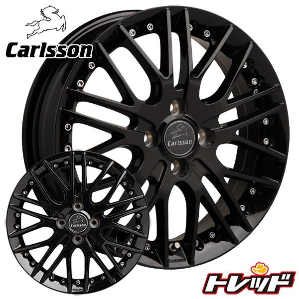送料無料 165/50R16 BRIDGESTONE NEXTRY ブリヂストン ネクストリー Carlsson カールソン 1/10 X RSR Black Edition サマータイヤ ホイール 4本セット 5.0J-16インチ 4H100