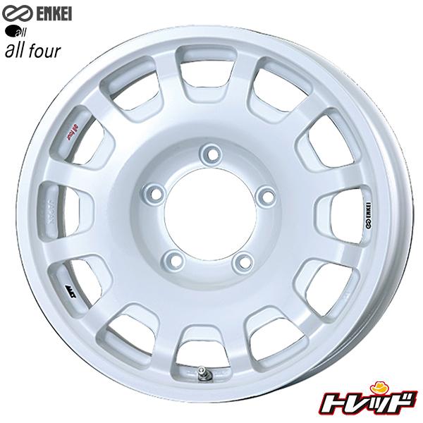 送料無料 175/80R16 TOYO トーヨー プロクセス CF2 SUV ENNKEI エンケイ all four パールホワイト 新品サマータイヤ ホイール4本セット 5.5J-16インチ 5H PCD139.7 ジムニー専用サイズ