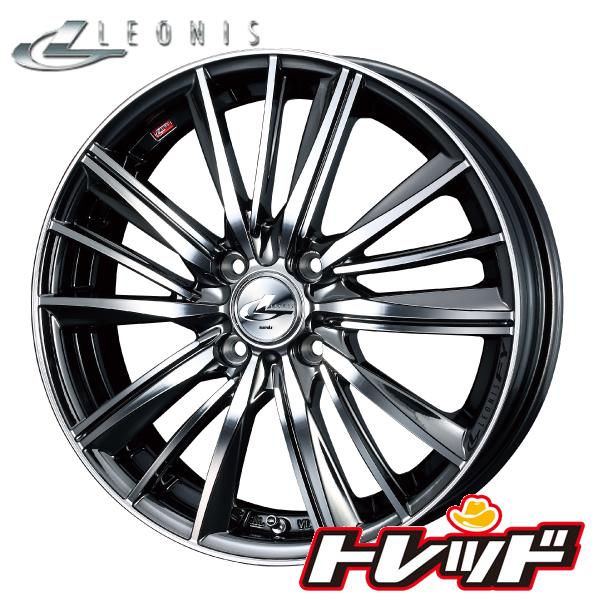 送料無料 155/55R14 KENDA ケンダ KR23 Weds LEONIS FY BMCMC / ブラックメタルコートミラーカット 新品サマータイヤ ホイール4本セット