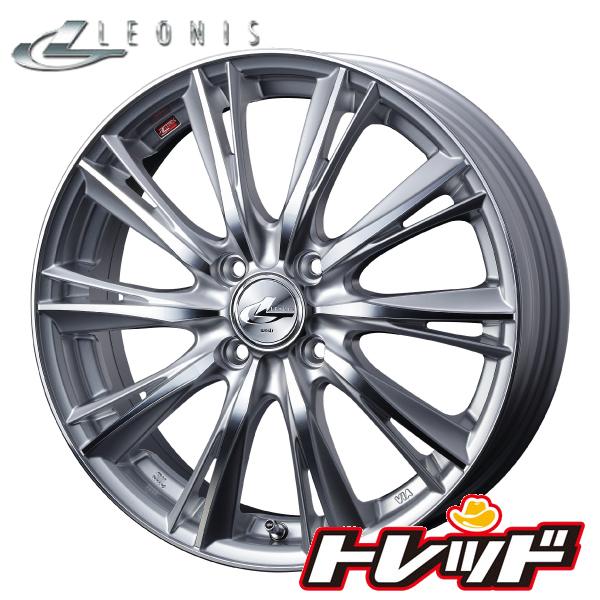 送料無料 155/55R14 KENDA ケンダ KR23 ウェッズ レオニス WX HSMC 新品サマータイヤ ホイール4本セット