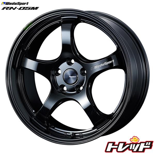 送料無料 245/40R18 WINRUN ウィンラン R330 WedsSport RN-05M GLOSS BLACK / グロスブラック 新品サマータイヤ ホイール4本セット 5H114.3