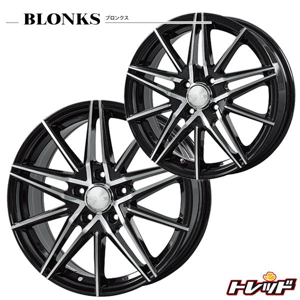 送料無料 215/60R16 WINRUN ウィンラン R380 BLONKS ブロンクス TB01 ブラックポリッシュ 新品サマータイヤ ホイール4本セット 5H100