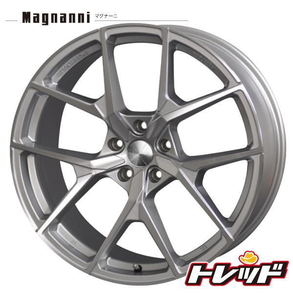 送料無料 215/45R18 HAIDA ハイダ HD927 Magnanni マグナーニ STW メタリックシルバー サマータイヤホイール 4本セット 5H114.3