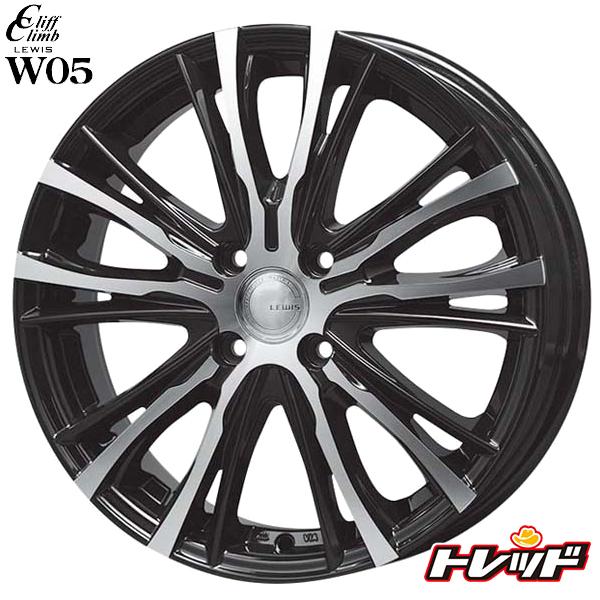 送料無料 165/45R16 KENDA ケンダ KR23A LEWIS ルイス W05 ブラックポリッシュ 新品サマータイヤ ホイール4本セット 16インチ 5.0J 4H100 +45