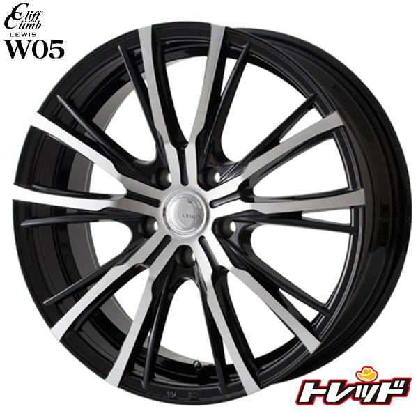 送料無料 215/45R18 WINRUN ウィンラン R330 LEWIS ルイス W05 ブラックポリッシュ 5H114.3