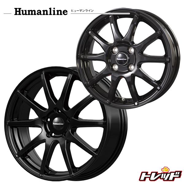 送料無料 215/55R17 WINRUN ウィンラン R330 ヒューマンライン S-15 ブラック 新品サマータイヤ ホイール4本セット