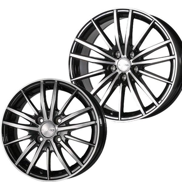 新品 サマータイヤホイール 売り込み 4本セット 日本未発売 送料無料 225 TB06 ブラックポリッシュハンコック ブロンクス K120サマータイヤホイールセット 40R18インチ5H114.3