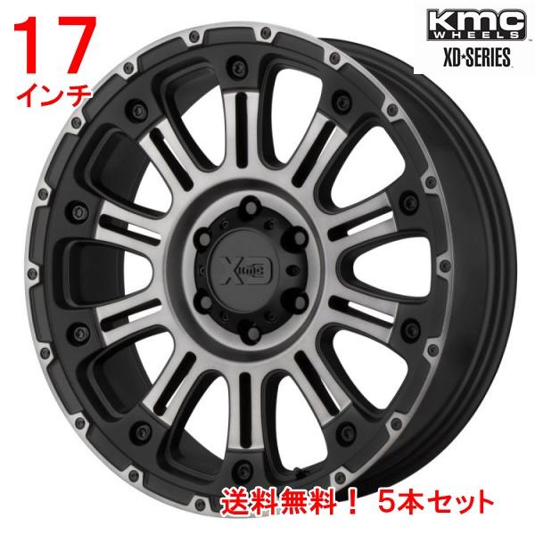 ジープ ラングラー Jeep Wrangler JKラングラー 17インチアルミホイール 【送料無料】 KMC XDシリーズ ホス2 17x9Jオフセット18mm グレーマシンドフィニッシュ5本セット