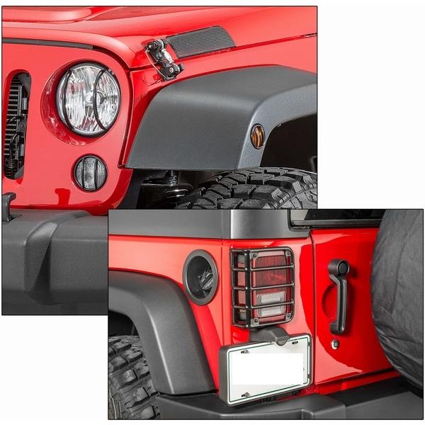 ジープ ラングラー Jeep Wrangler ジープJKラングラー/ジープJKラングラー アンリミテッド 【送料無料】 タクティック ユーロスタイル ライトガードセット グロスブラック