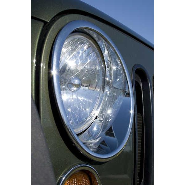 ジープ ラングラー Jeep Wrangler ジープJKラングラー/ジープJKラングラー アンリミテッド 【送料無料】 ラギッドリッジ ヘッドライトトリム クローム