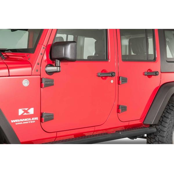 ジープ ラングラー Jeep Wrangler ジープJKラングラー アンリミテッド 【送料無料】 ケントロール ドアヒンジセット テクスチャブラック