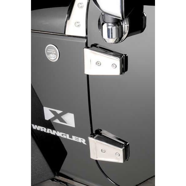ジープ ラングラー Jeep Wrangler ジープJKラングラー アンリミテッド 【送料無料】 ラギッドリッジ ドアヒンジカバー ポリッシュ ラングラー カスタム パーツ
