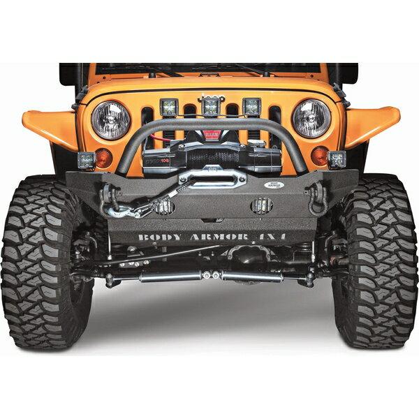 ジープ ラングラー Jeep Wrangler 【ラングラーアンリミテッド バンパー】 JKラングラー JKラングラーアンリミテッド オフロードバンパー クロカンバンパー 【送料無料】 ボディアーマー4x4 ミディアム フロントバンパー