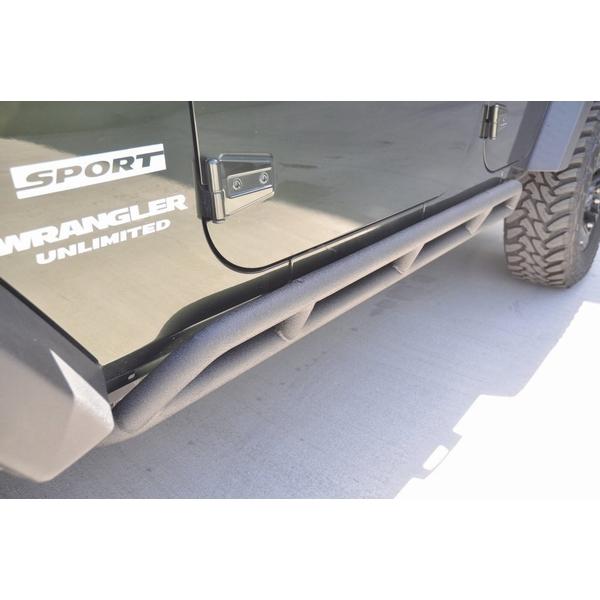 ジープ ラングラー Jeep Wrangler JKラングラー アンリミテッド ロックスライダー ロックレール 【送料無料】 DV8オフロード SR1 ロックスライダー