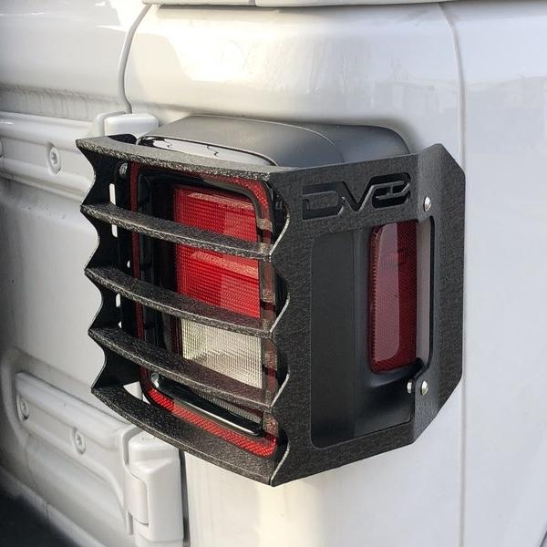ジープ ラングラー Jeep Wrangler ジープJLラングラー/ジープJLラングラー アンリミテッド 【送料無料】 DV8オフロード テールライトガード テクスチャブラック
