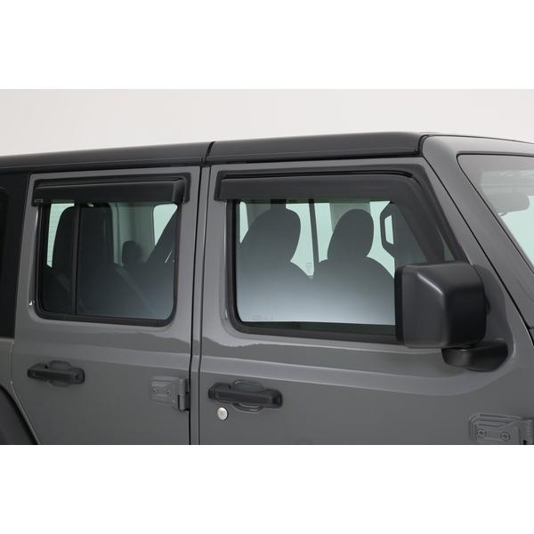 ジープ ラングラー Jeep Wrangler ジープJLラングラー アンリミテッド 【送料無料】 GTスタイリング ドアバイザー フロント・リアセット スモーク