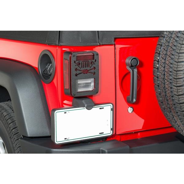 ジープ ラングラー Jeep Wrangler ジープJKラングラー/ジープJKラングラー アンリミテッド 【送料無料】 ジープツイークス テールライトガード JT05-B ブラック ラングラー カスタム パーツ