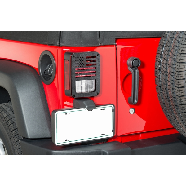 ジープ ラングラー Jeep Wrangler ジープJKラングラー/ジープJKラングラー アンリミテッド 【送料無料】 ジープツイークス テールライトガード JT17-B ブラック