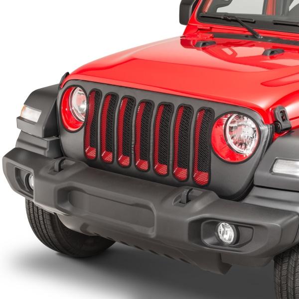 ジープ ラングラー Jeep Wrangler ジープJLラングラー/ジープJLラングラー アンリミテッド 【送料無料】 MOPAR モパー フロントグリルカバー ブラック ラングラー カスタム パーツ