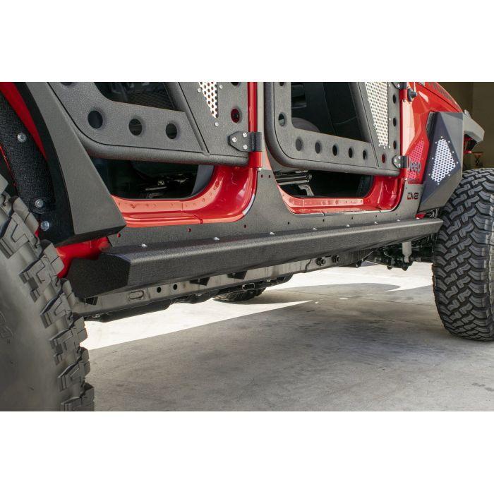 ジープ ラングラー Jeep Wrangler ジープJLラングラー アンリミテッド ロックスライダー ロックレール 【送料無料】 DV8オフロード ロッカーガードスキン ラングラー カスタム パーツ