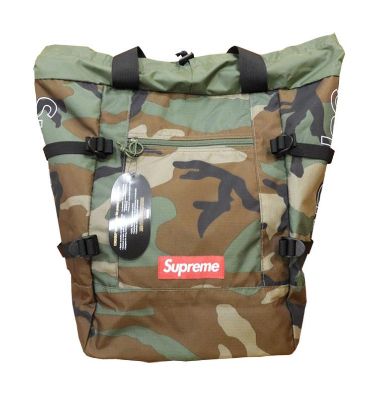 【未使用品】SUPREMEシュプリーム19SS Tote Backpackトート バックパック18LWoodland Camo