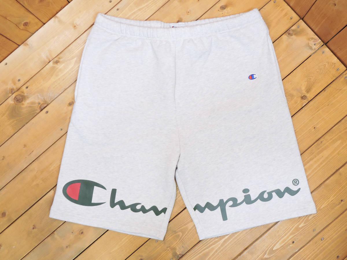 【未使用品】SUPREME × Champion18SS Champion Sweat short Lシュプリーム× チャンピオンチャンピオン スウェット ショーツ ショートパンツアッシュ グレー