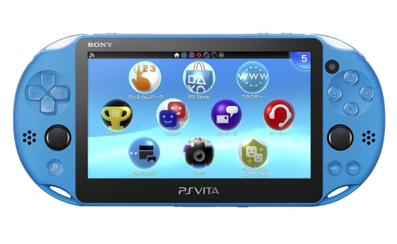 【未使用品】SONY PlayStation VitaPCH-2000 ZA23Aqua Blue Wi-Fiモデル 【店舗印有り:保証書日付 2018年03月27日】