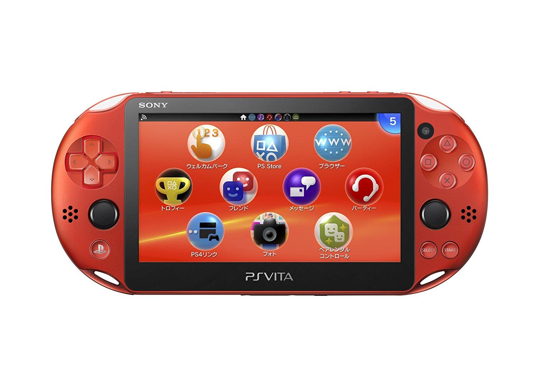 【未使用品】SONY PlayStation Vita PCH-2000 ZA26 Metallic Red Wi-Fiモデル 【店舗印あり:保証書日付 2018年05月05日】