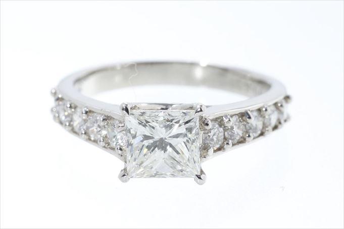ダイヤモンド プラチナリング 指輪 D1.091ct Pt900 サイズ調整無料 送料無料 【中古】【トレジャースポット】