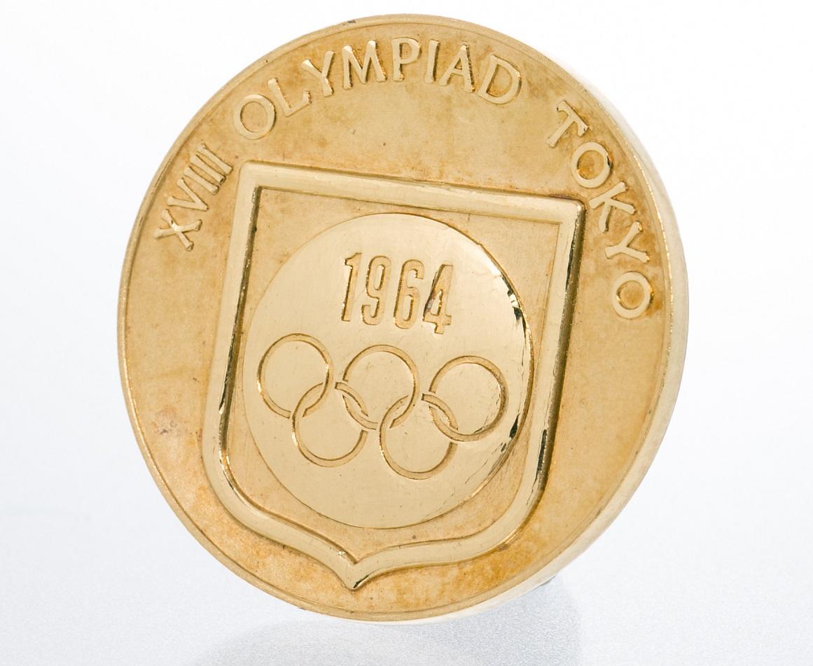 1964年東京オリンピック 記念コイン K24 美品 送料無料 木箱付【トレジャースポット】【中古】