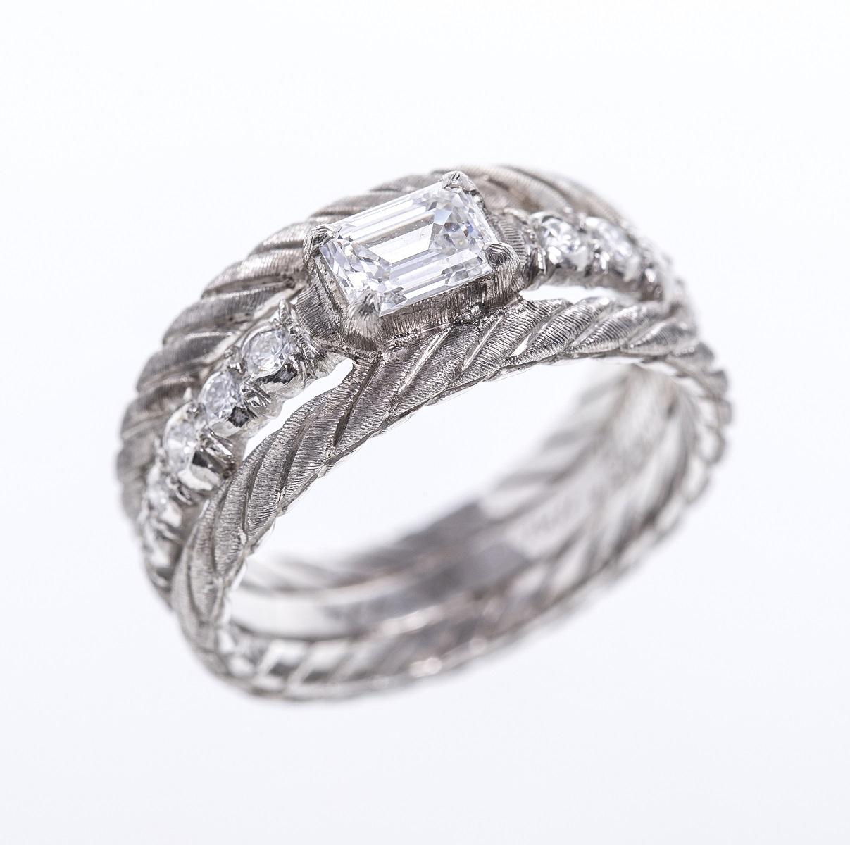 GIANMARIA BUCCELLATI ジャンマリア ブチェラッティ ダイヤモンドリング 指輪 #13 送料無料 【トレジャースポット】【中古】