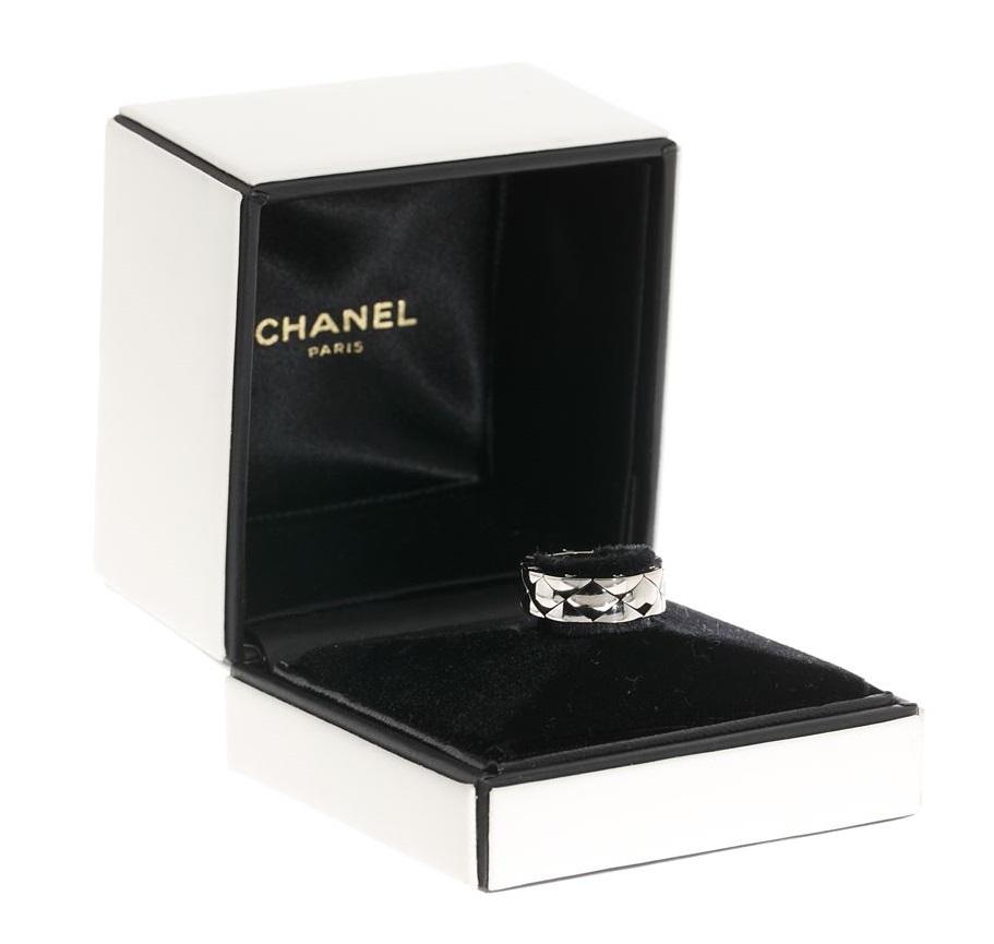 シャネル CHANEL マトラッセデザインリング 指輪 #52 750WG ホワイトゴールド 送料無料 【トレジャースポット】【中古】
