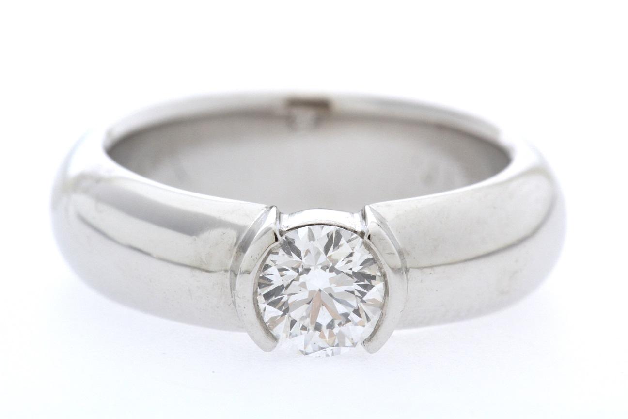 ティファニー TIFFANY & Co. ダイヤリング 指輪 0.46ct D・VVS1 プラチナ Pt950 新品同様品 送料無料 【トレジャースポット】【中古】