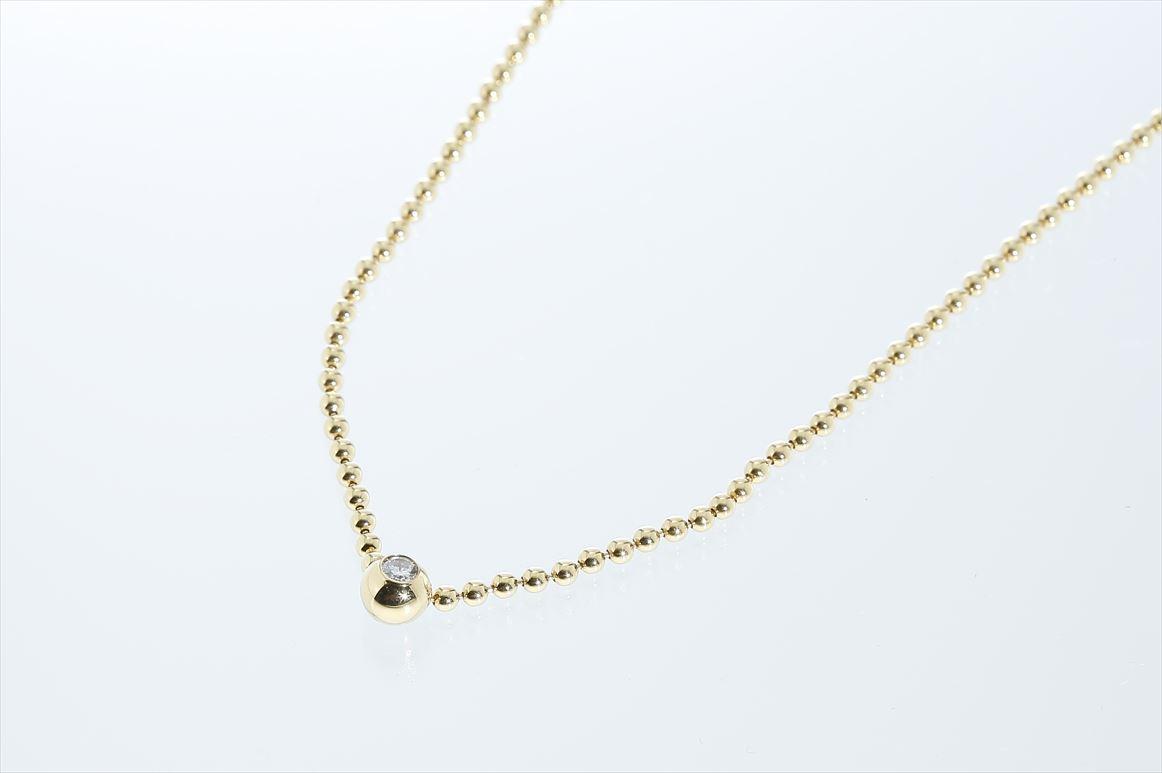 カルティエ Cartier ダイアネックレス ダイアモンド K18イエローゴールド チェーン約36cm 送料無料 【トレジャースポット】【中古】