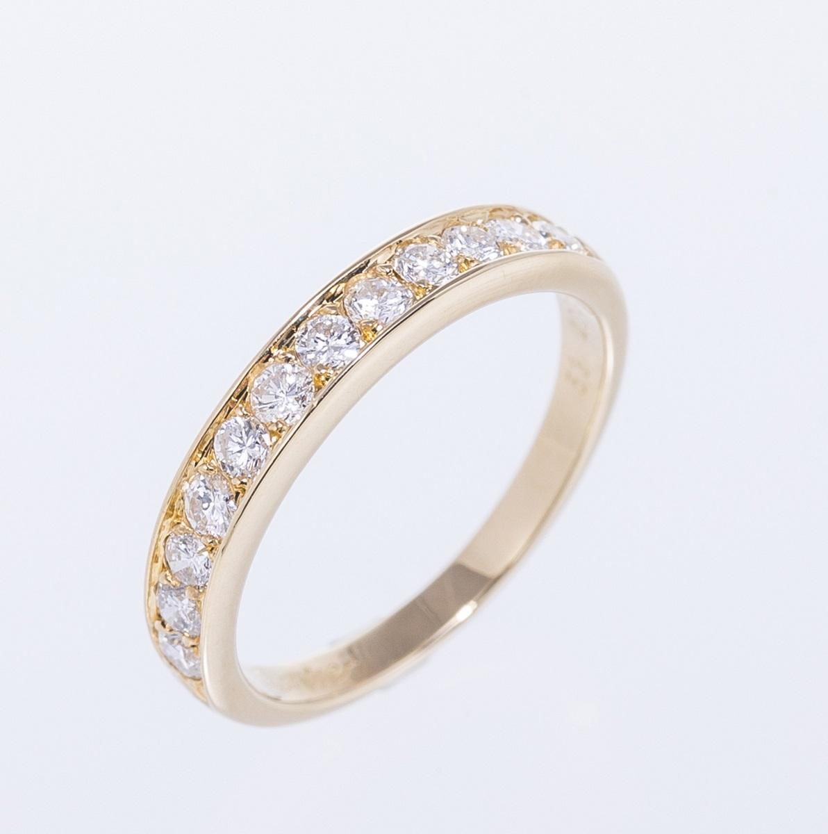 Cartier カルティエ ダイヤモンドリング 750YG #53 新品仕上げ済み 指輪 送料無料 【トレジャースポット】【中古】