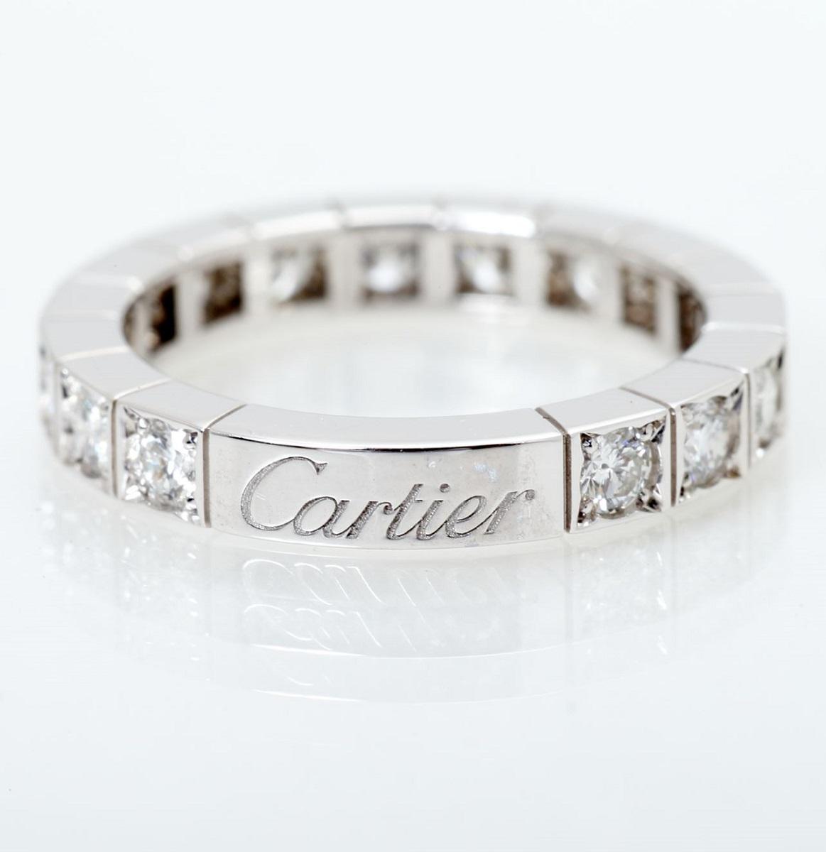 Cartier カルティエ ラニエール フルダイヤ 750WG  ホワイトゴールド #48 腕時計 送料無料 【トレジャースポット】【中古】